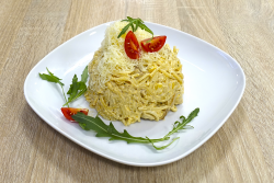 Görög csirkés spagetti