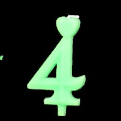 Zöld számgyertya - 4